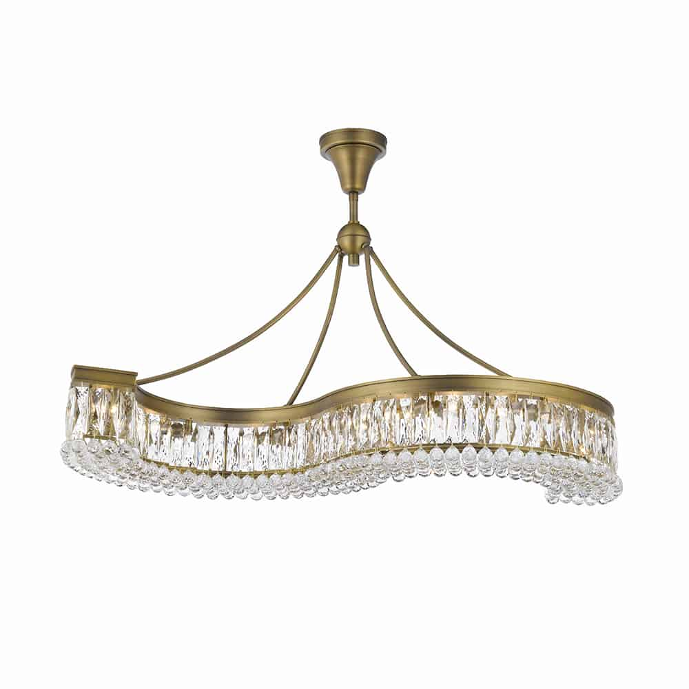valencia 48 inch hanging chandelier with heirloom grandcut