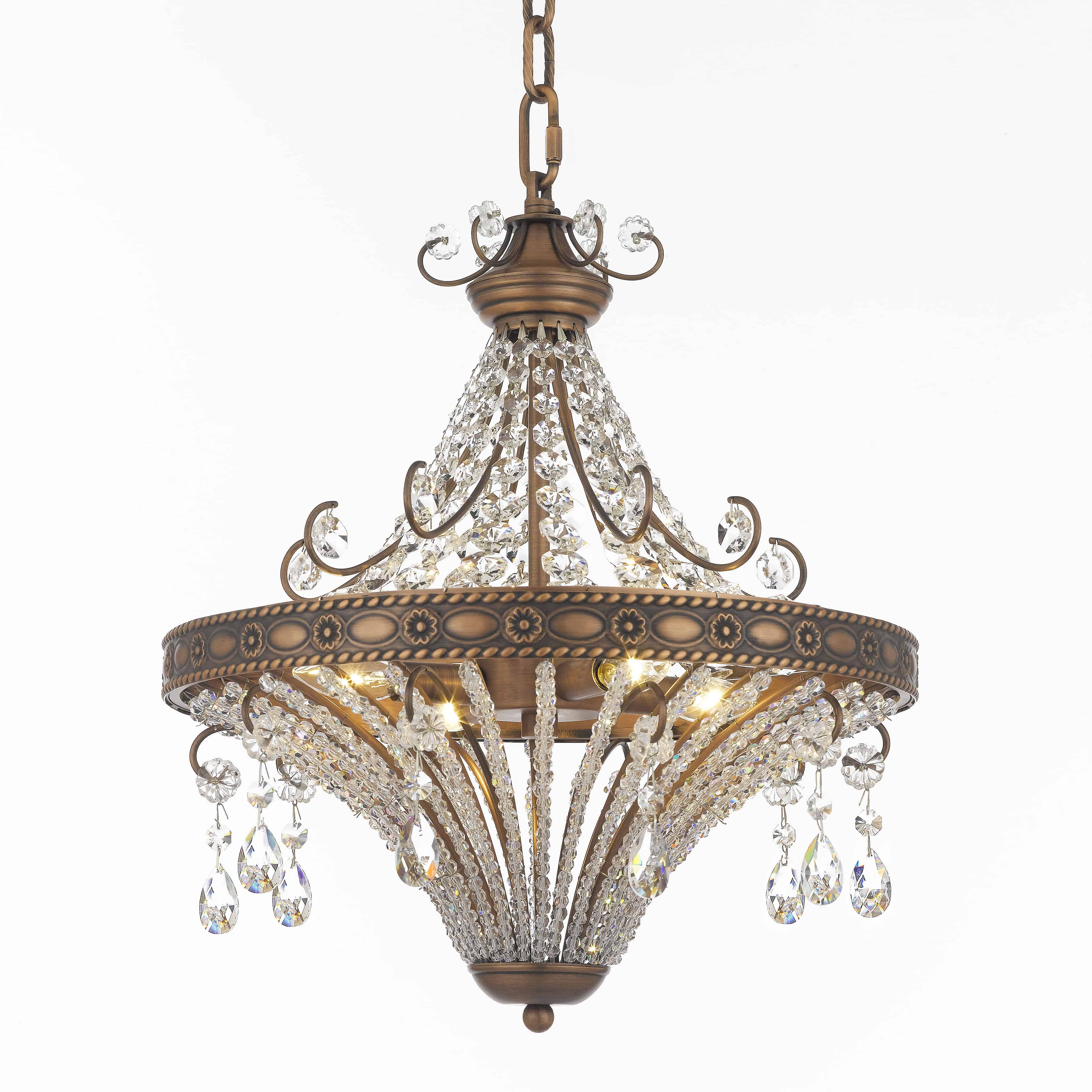 Pamplona 16 Inch Hanging Chandelier With Clear Crystal